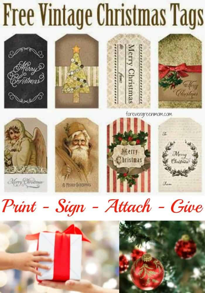 Free Printable Vintage Inspired Christmas Tags My Traveling Roads