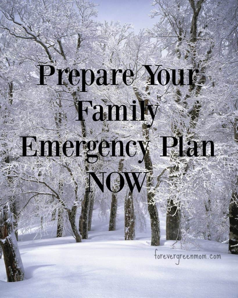 Prepare Your Family Emergency Plan NOW