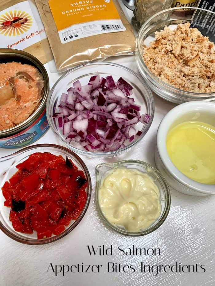 Wild Salmon Appetizer Bites ingredients